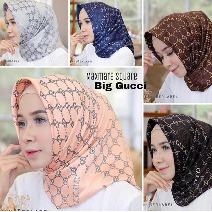 2ded5b25980 Jual Hijab Kerudung Motif Jilbab Segiempat Maxmara Square Motif Big ...