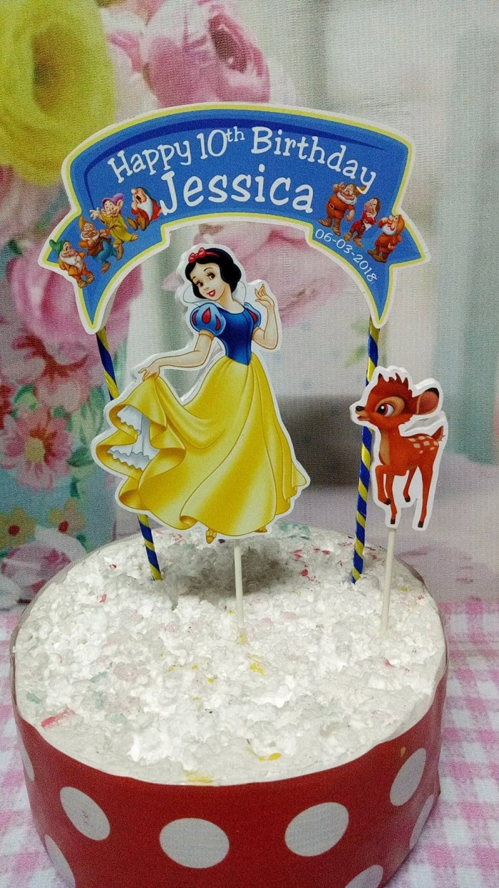 Jual Tiang Gabus Hiasan Tart Tema Snow White Kab Kudus Febrilia2018