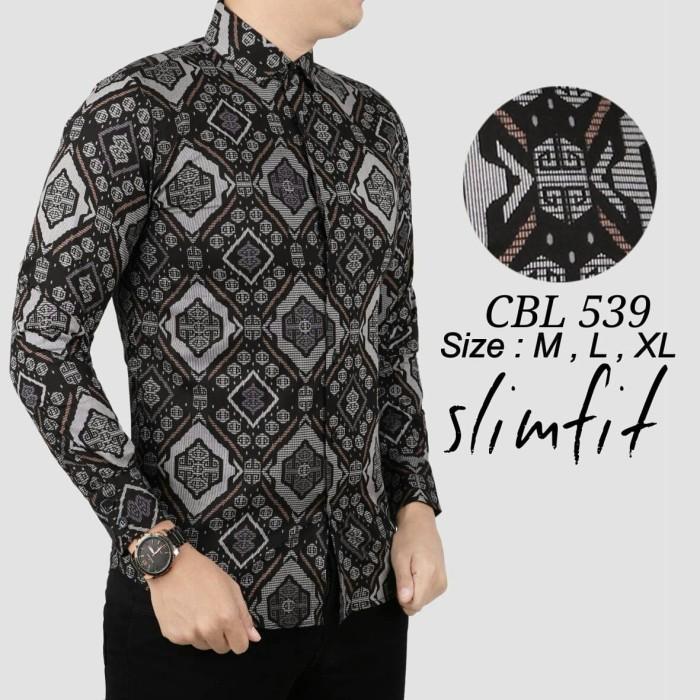Kemeja Batik Pria Model Slimfit Modern Motif Kekinian