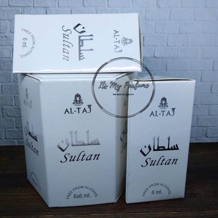 Al Taj Aroma Silver Parfume Non Alkohol 6 ml - Its My Parfume