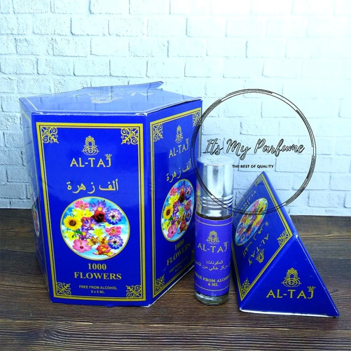 Al Taj Aroma 1000 Flowers Parfume Non Alkohol 6 ml - Its My Parfume