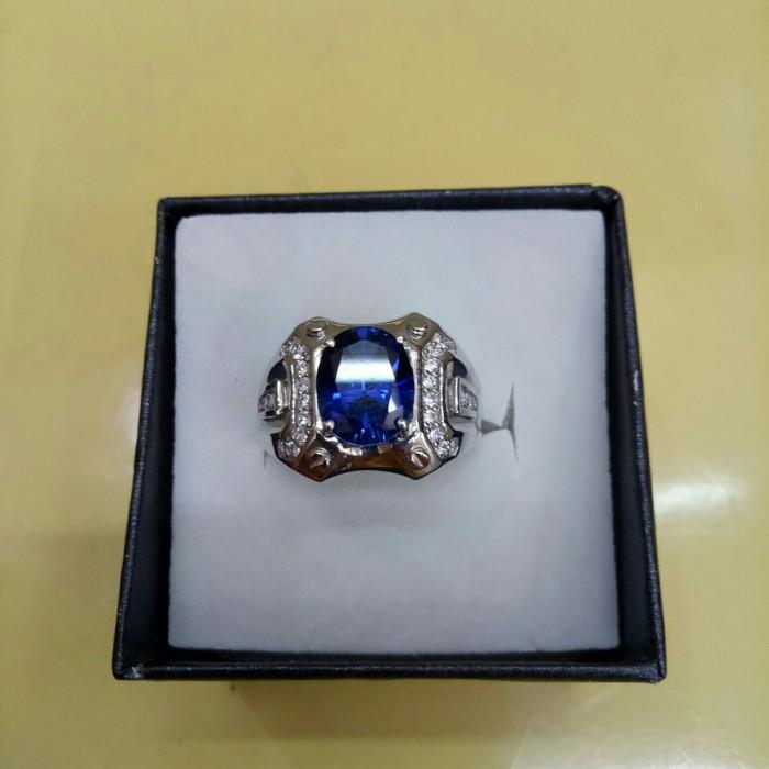 harga Cincin ikat batu biru +cz. berat 6.65gr. mas pth Tokopedia.com