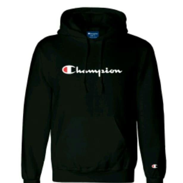 Hoodie sweater champion hitam