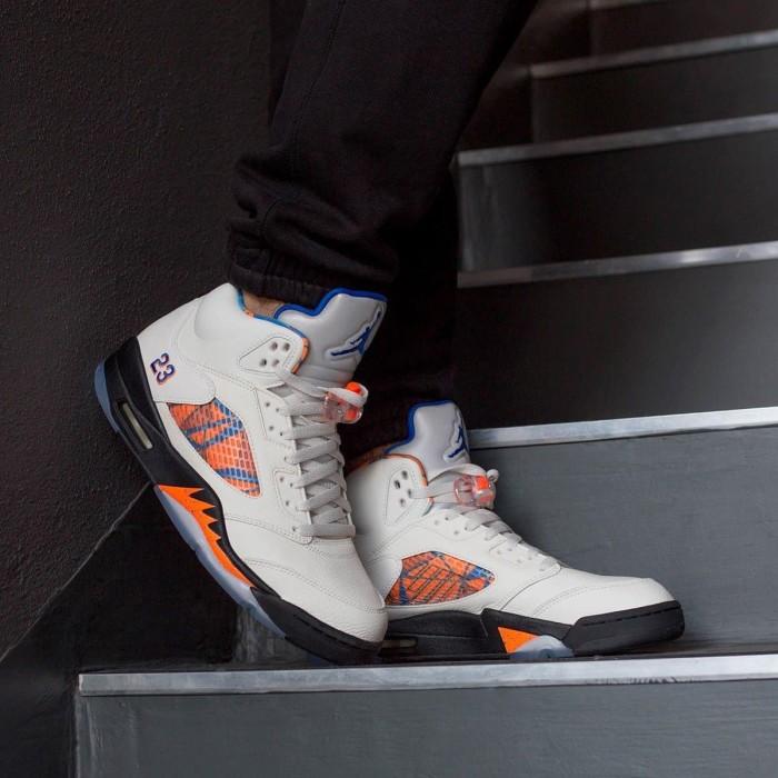 796fa43dc5dcb2 Jual Nike Air Jordan 5 Mid Inter Flight Sepatu Sneakers Basket Pria ...