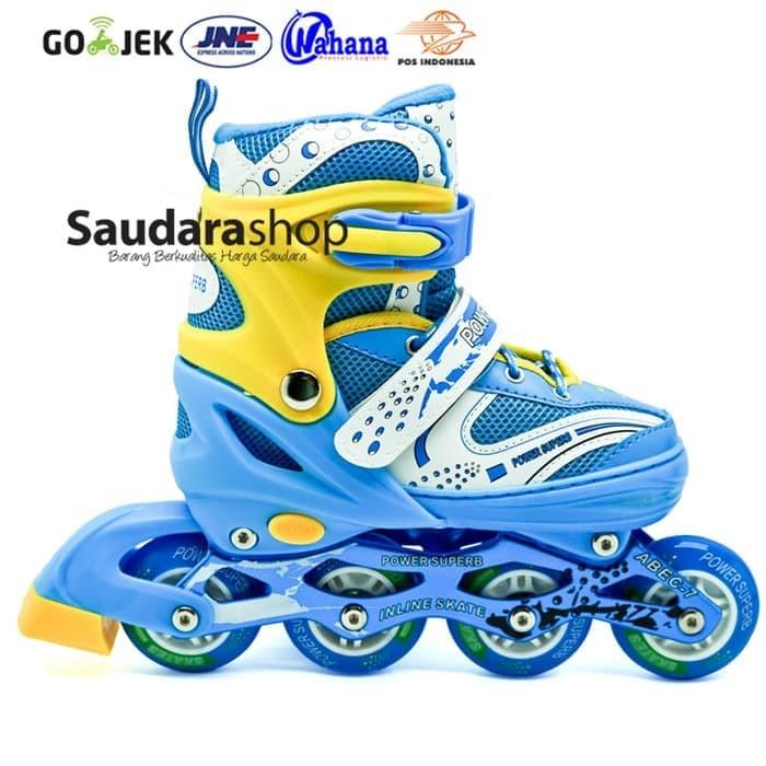 Power Superb Sepaturoda Inline Biru   Sepatu Roda Inline Biru Murah 85a8e74d61