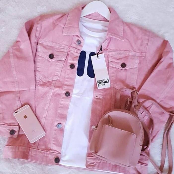 87+ Foto Jaket Jeans Wanita Warna Pink Terbaik