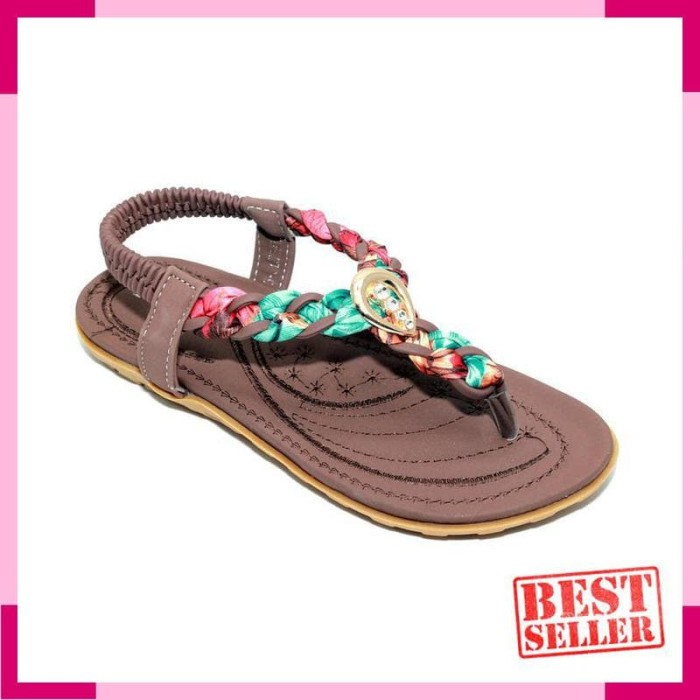 Sepatu Sandal Anak Perempuan Tali Ivory TLBB239-9 Brown
