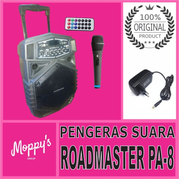 harga Roadmaster speaker portable pa-8 speaker koper bluetooth mic wireless Tokopedia.com