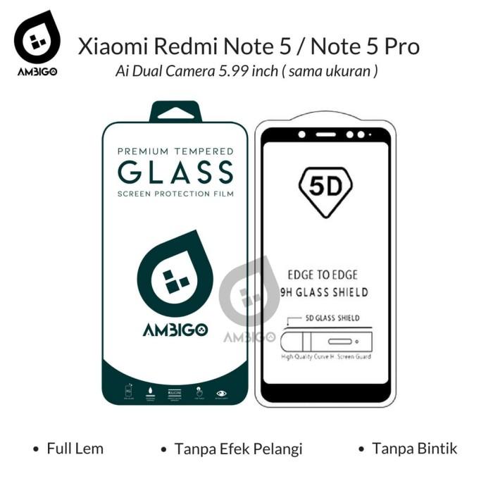 harga Ambigo 5d tempered glass xiaomi redmi note 5 pro full cover glue - putih Tokopedia.com
