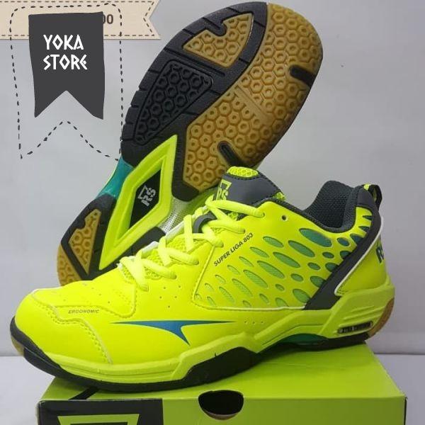 Jual ORIGINAL RS SUPER LIGA 803 LIME sepatu badminton - Yoka Store ... 6843bebc89