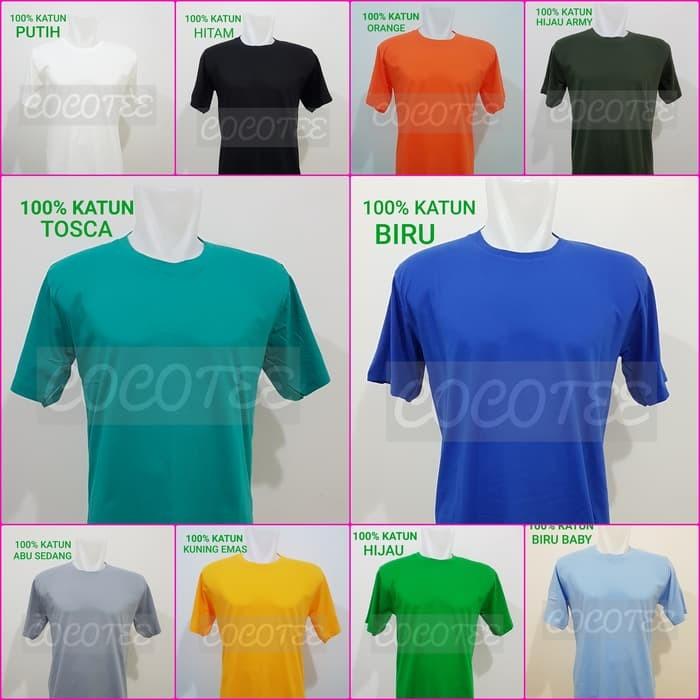 Kaos Murah Kaos Polos Jumbo Size / Big Size Katun Combed 30s Size 4XL