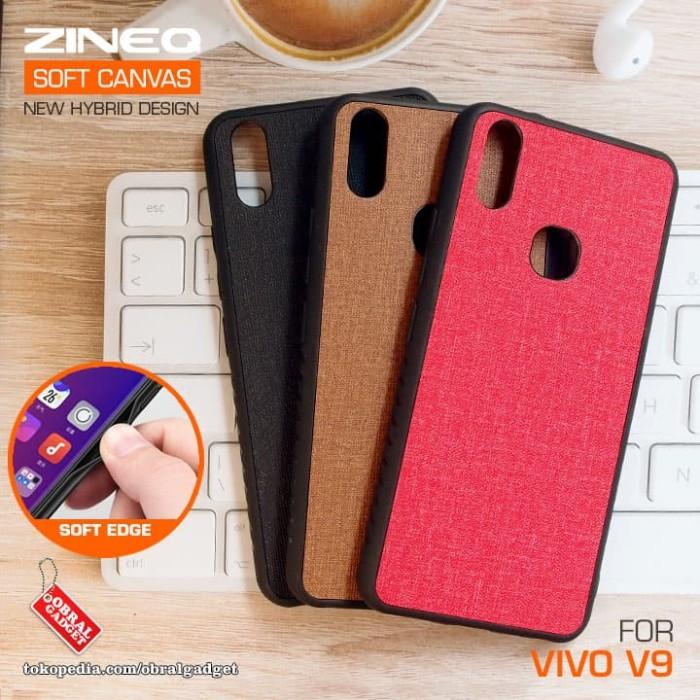 Soft Canvas Hybrid Case Vivo V9 Softcase Hard Silikon Casing