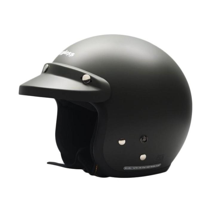 harga Cargloss retro bogo clear helm half face   visor hitam Tokopedia.com