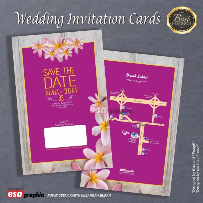 Jual Undangan Pernikahan Purple Wood Background Kab Bogor Esa Graphia Tokopedia