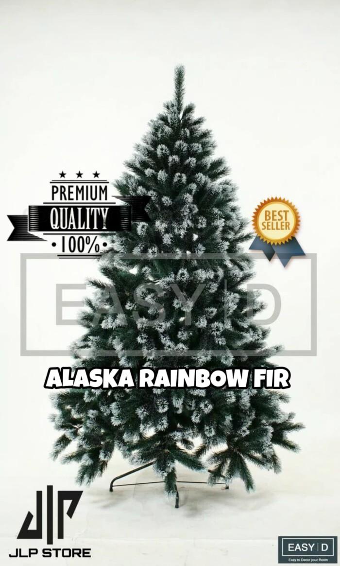 harga Best seller !! pohon natal premium alaska rainbow fir tree 6ft 180cm Tokopedia.com