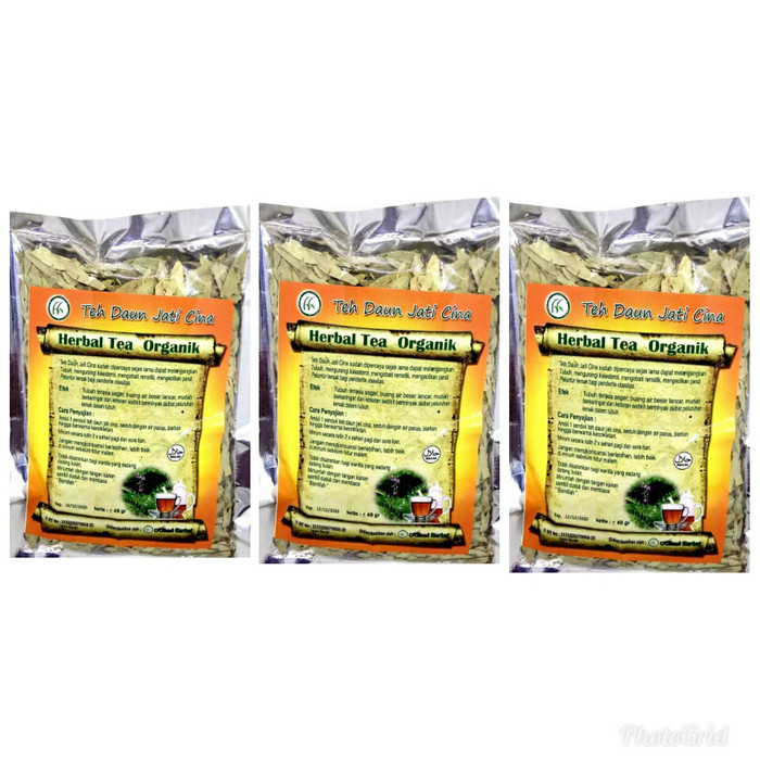 Teh Seduh Herbal Daun Jati Cina 3 pcs .