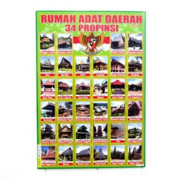 Jual Poster Rumah Adat Di Indonesia Kota Bekasi Rumasa Tokopedia