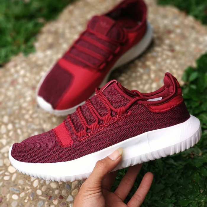 save off 0da92 1b729 Jual Sepatu Adidas Tubular Shadow Red Maroon / Merah Running Gym Fitness -  Jakarta Barat - Polyphia | Tokopedia