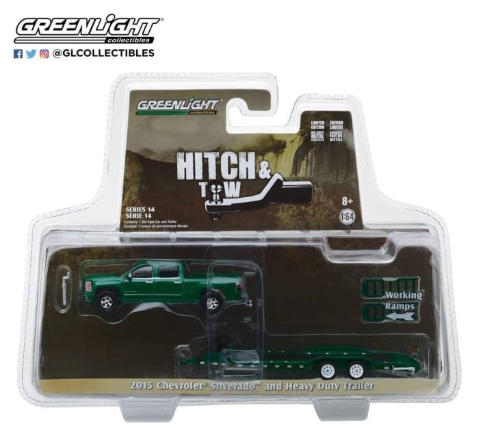 harga Greenlight c silverado and heavy duty car hauler - hitch & tow 14 Tokopedia.com