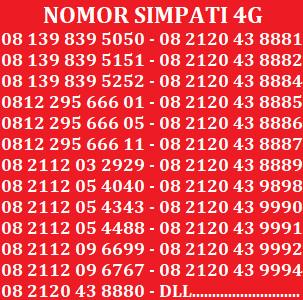 Telkomsel Simpati Nomor Cantik 0812 186 1188 Daftar Harga Terbaru Source · Kartu Perdana Nomor Cantik