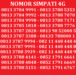 ... Telkomsel Simpati Nomor Cantik 0812 1818 390 Daftar Harga Source Kartu Perdana Nomor Cantik No Telkomsel