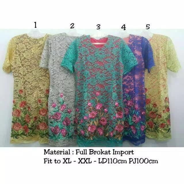 harga Kd - 3591 dress full brukat bordir Tokopedia.com