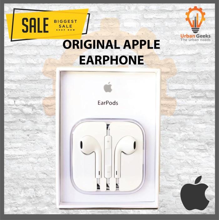harga Earphone apple iphone5 original 100% iphone 5 ipad handsfree headset Tokopedia.com