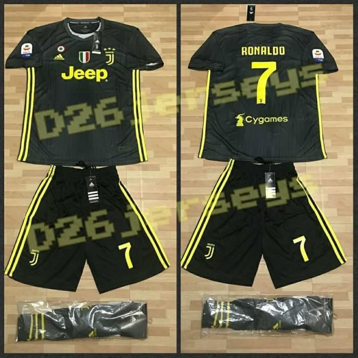the best attitude f81a5 92b46 Jual Jersey Juventus 3rd Away FULL KIT 18/19 OFFICIAL + Cetak nama + Patch  - DKI Jakarta - D26Jersey | Tokopedia