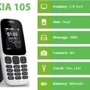 harga Nokia 105 neo dual sim garansi resmi Tokopedia.com