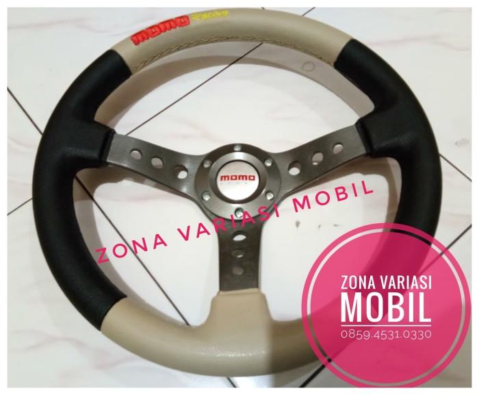 harga Stir steer racing mobil universal momo 14 inch model drifting krem Tokopedia.com