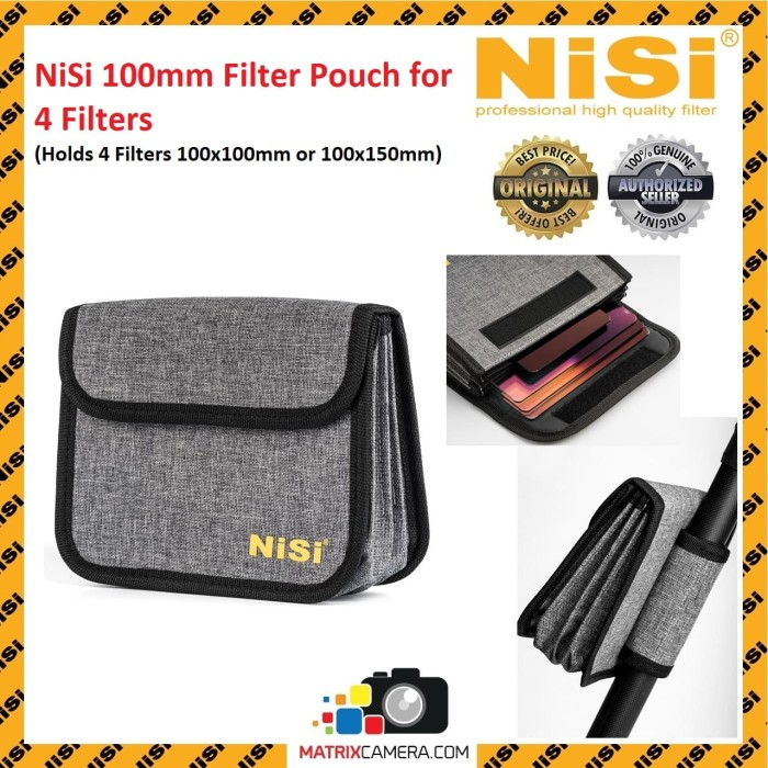 Foto Produk NiSi 100mm Pouch for 4 Filters, Holds 4 Filters 100x100mm or 100x150mm dari MatrixCamera