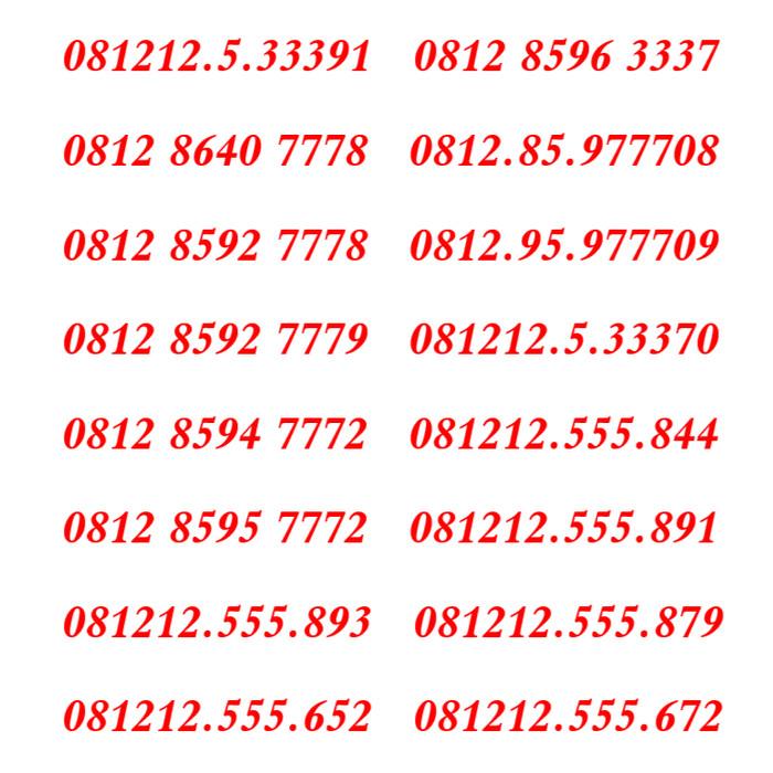 Kartu Perdana Nomor Cantik Simpati Telkomsel Rapih Manis .