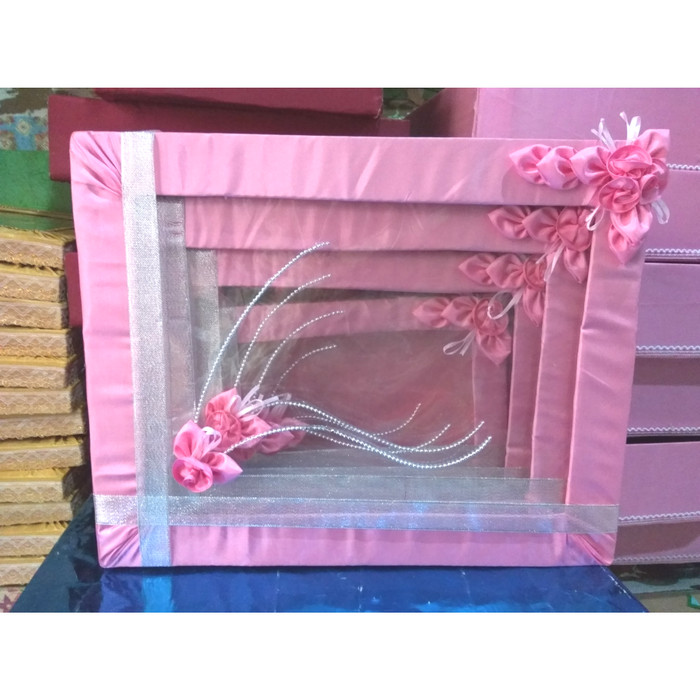 Jual Kotak Hantarankotak Seserahan Model List Pita 1 Set Warna Pink