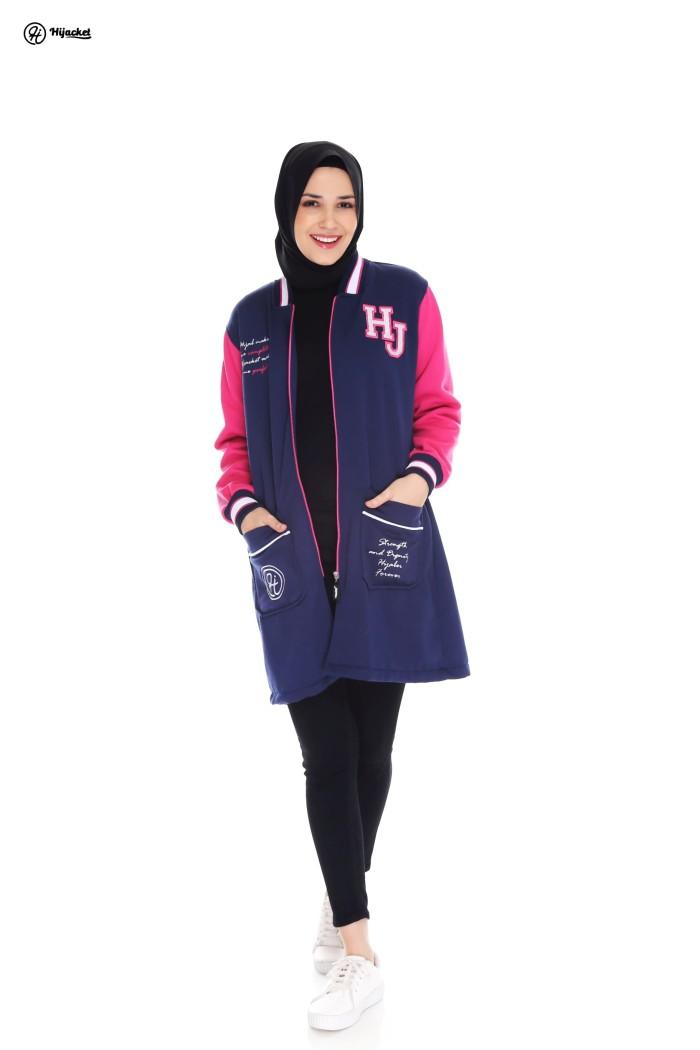 Hijacket Qadira Royal Pink / jacket wanita - Ukuran Allsize
