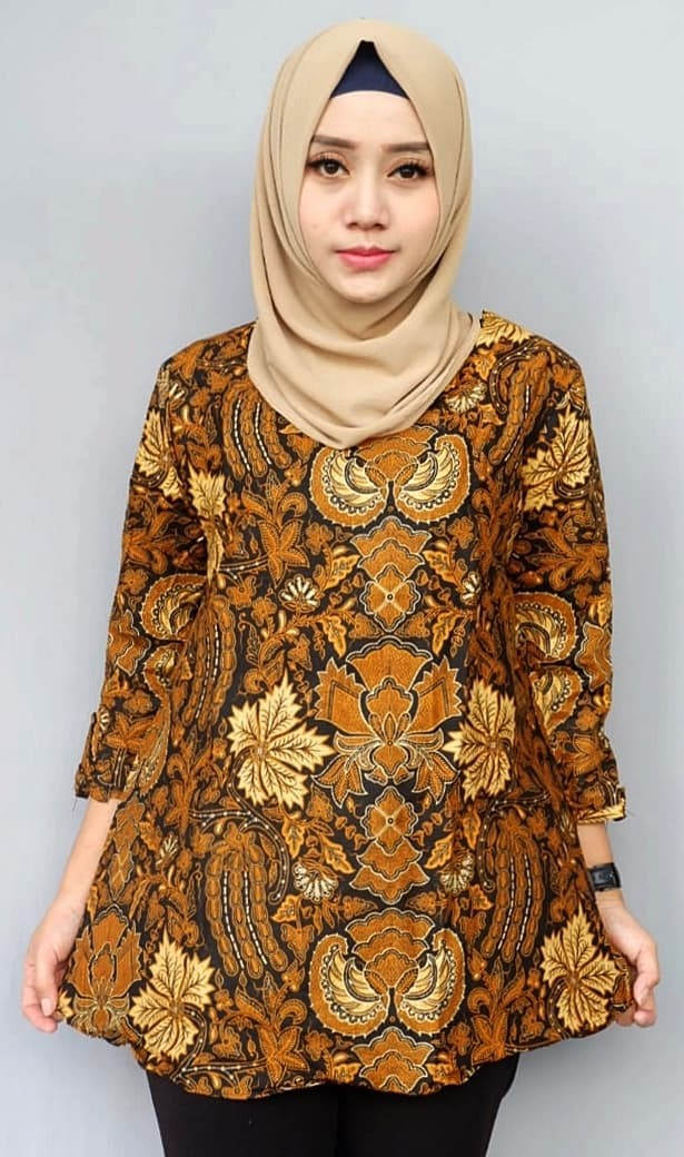 harga Blouse blus kemeja atasan seragam wanita batik 2353 gurdo daun Tokopedia.com