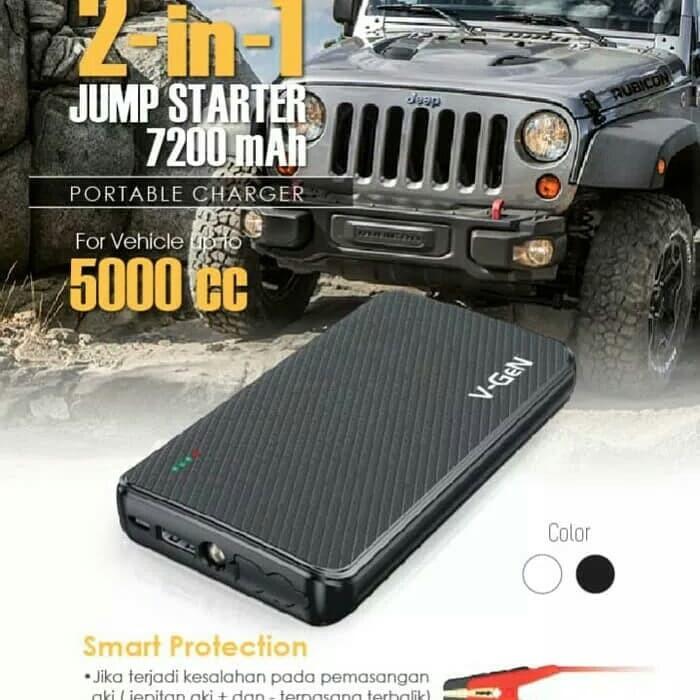 harga V-gen powerbank jumper jump starter 7200mah ca-03 motor mobil car vgen Tokopedia.com