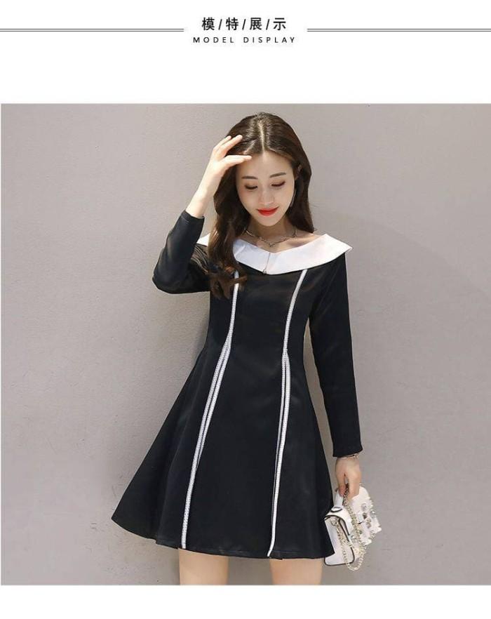 Casual Dress Lengan Panjang Import - 32170 Black Fairy Tale Dress