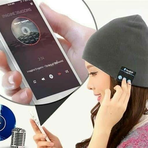 harga Topi kupluk bluetooth / topi headset handfree bluetooth Tokopedia.com