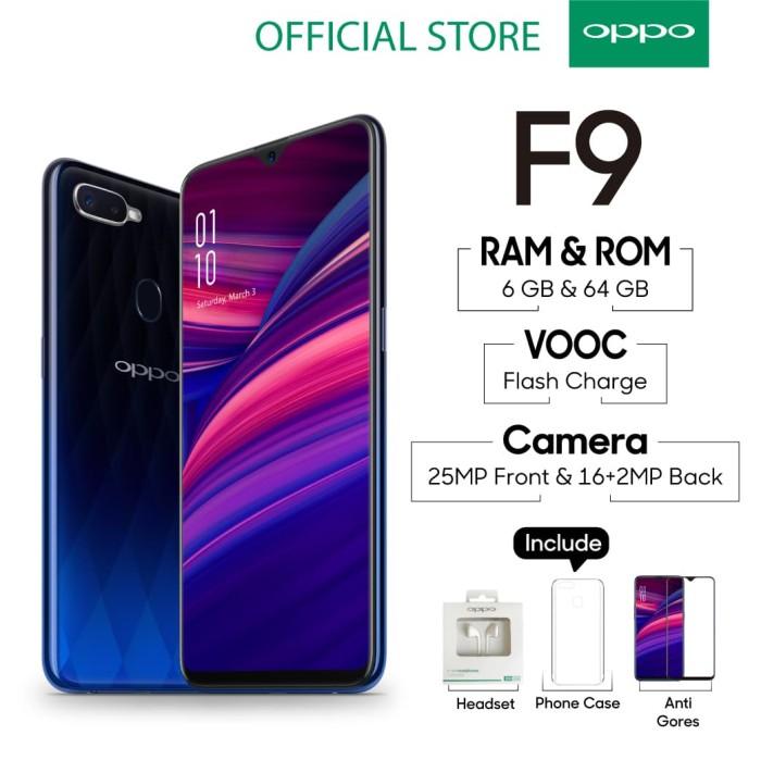 Oppo F9 Smartphone 6gb/64gb Twilight Blue ( Garansi Resmi Oppo ) - Blanja.com