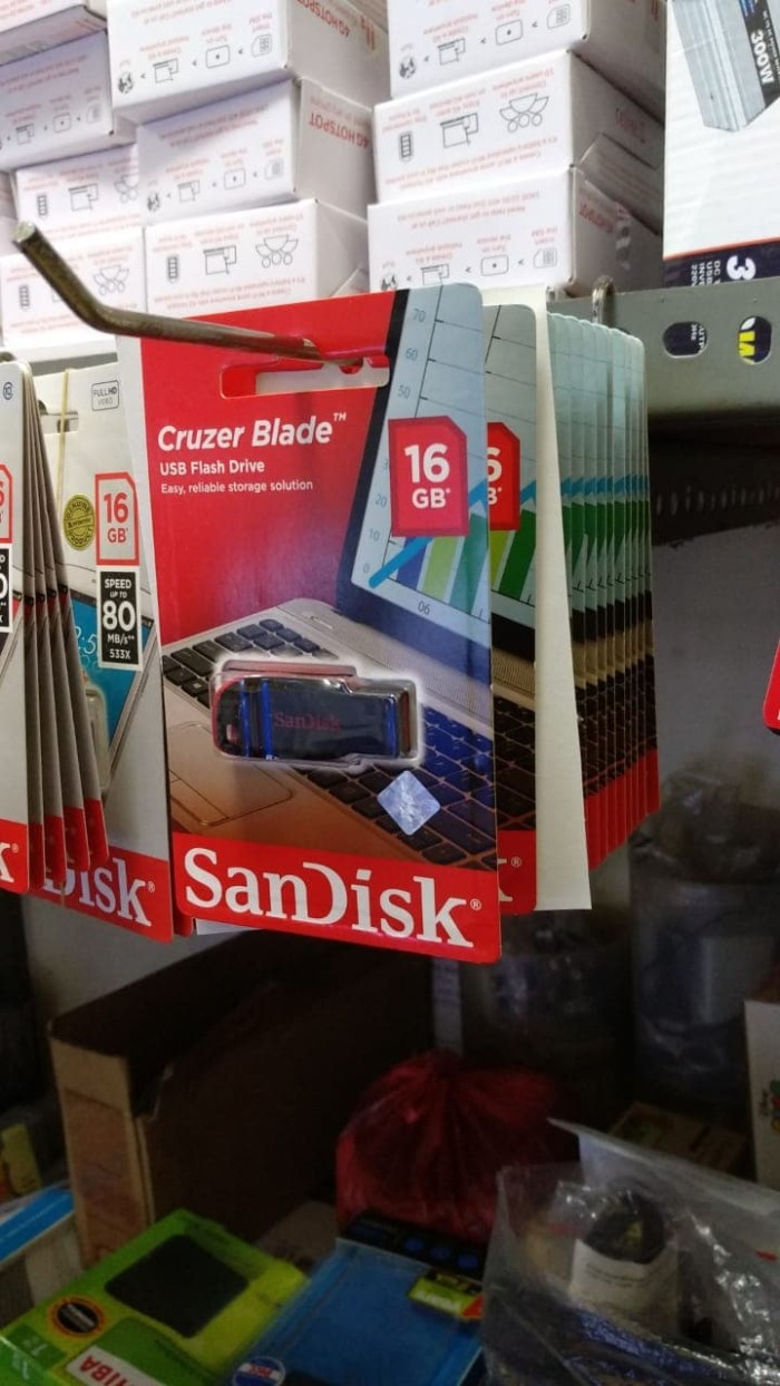Jual Flashdisk Sandisk 16gb Usb Flash Cruzer Blade 16 Gb Original