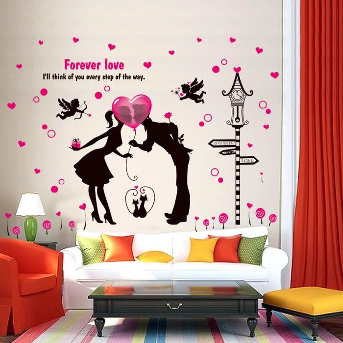 jual wall stiker 60x90 xl8213 forever love walstiker wallsticker