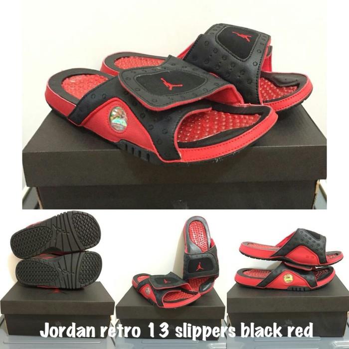c6cd54dee75 Jual Sandal Slippers Air Jordan Retro 13 Black Red - DKI Jakarta ...