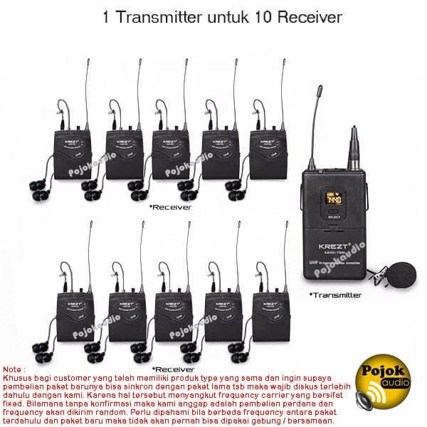 harga Wireless tour guide audio system krezt k200 tgm - mic & earphone Tokopedia.com