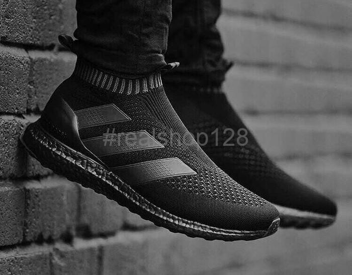 innovative design 6f86f 2a40c PROMO Adidas Ultra Boost Pure Ace 16 Triple Black