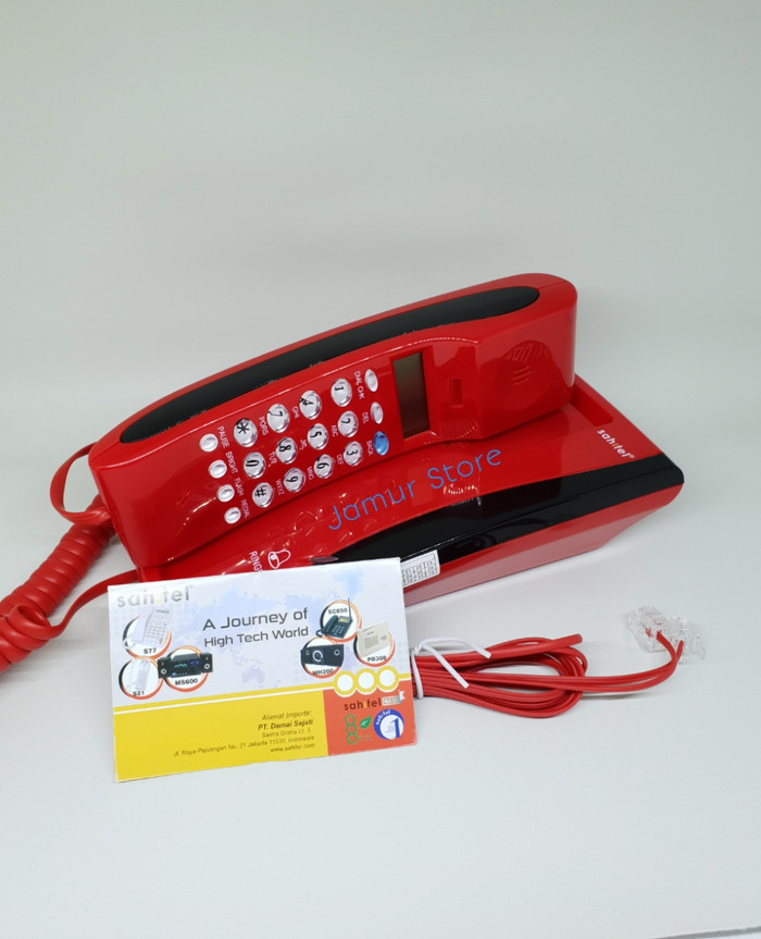 harga Telepon gagang / telpon rumah kabel sahitel s35 merah Tokopedia.com