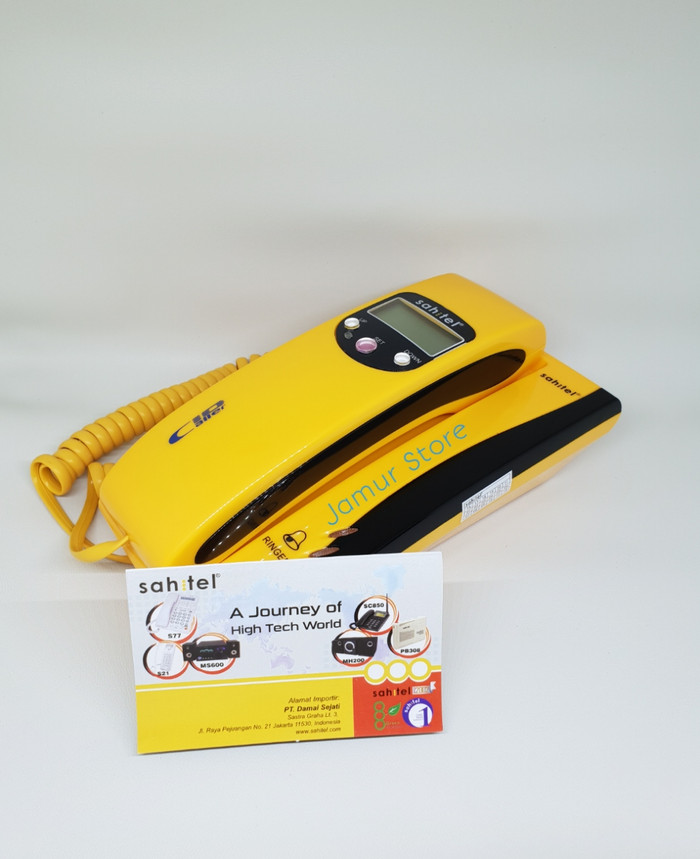 harga Telepon rumah sahitel s-35 kuning telpon kabel sahitel s35 - yellow Tokopedia.com