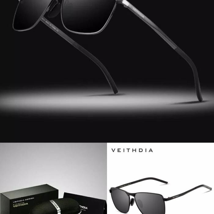 Kacamata sunglass vietdhia 2462 lens polarized frame full black