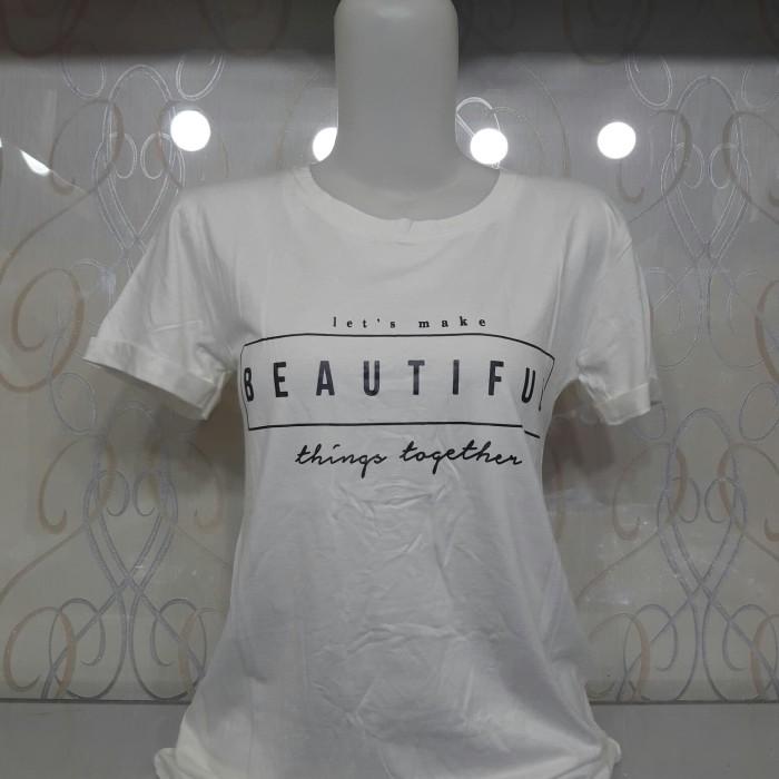harga Kaos cewek motif/gambar/logo/tulisan Tokopedia.com