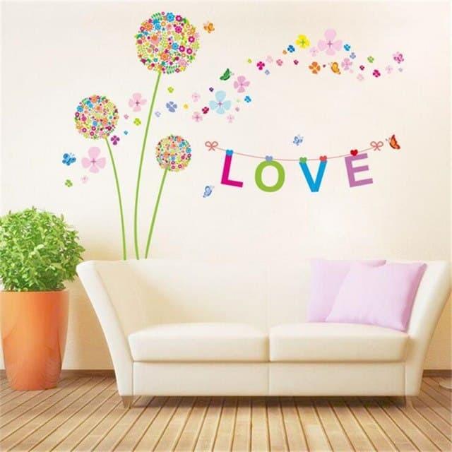 jual wall stiker 60x90 xh9233 three love pandora walstiker