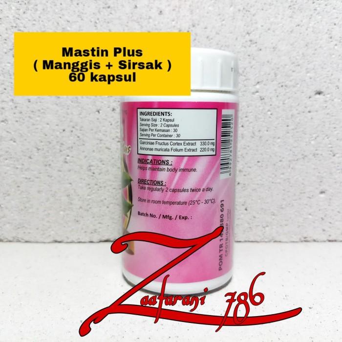 Mastin Plus 60 Kapsul [ Ekstrak Kulit Manggis|Daun Sirsak|Anti Kanker]